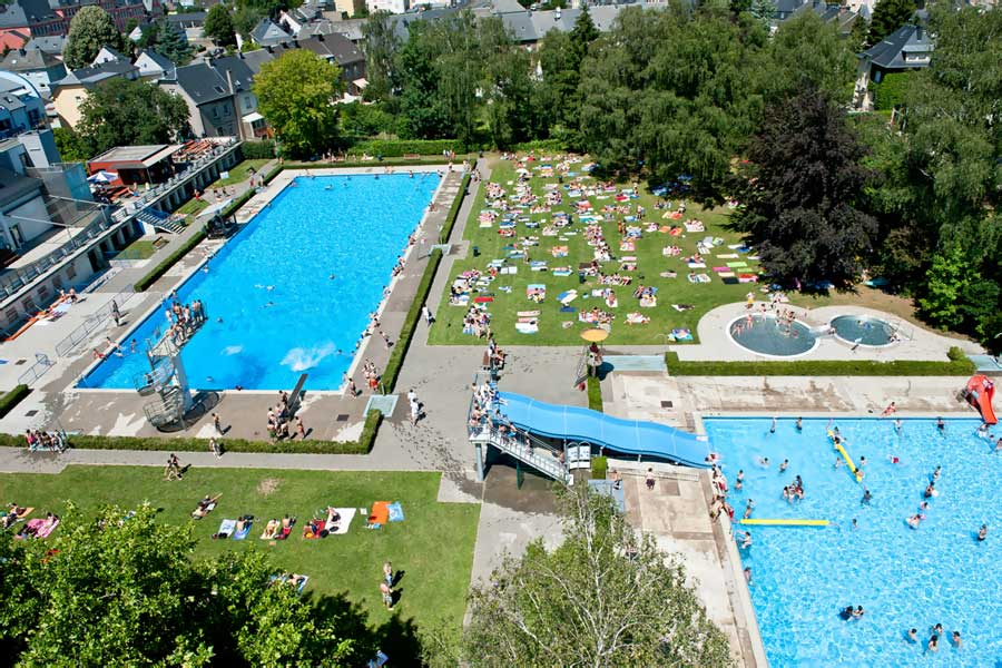 Kideaz piscine plein air estivale dudelange for Piscine couverte luxembourg