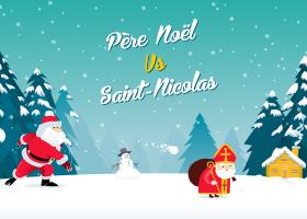 kideaz Pere Noel VS Saint Nicolas