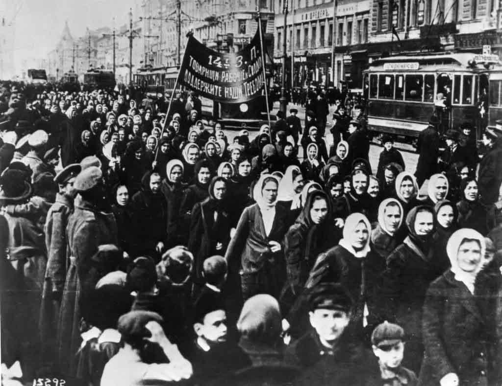 1917 International Womens Day   Petrograd 1024x789