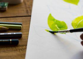 kideaz peinture feuille printemps
