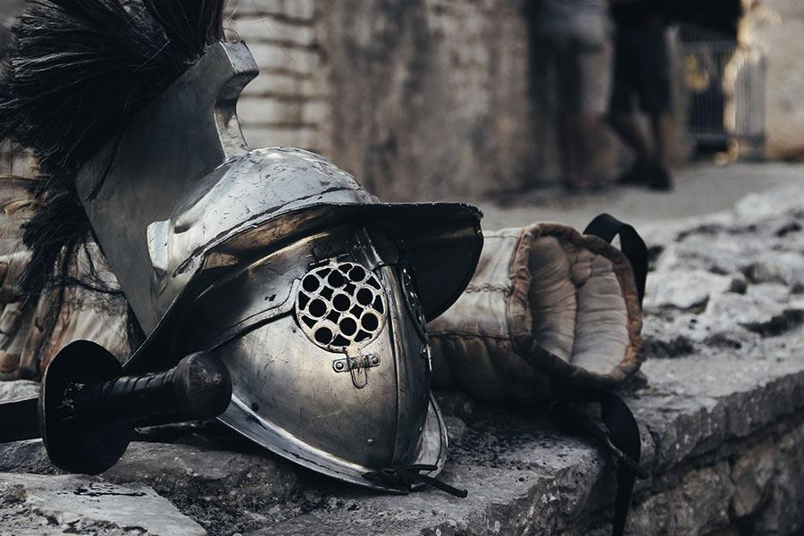 kideaz gladiateur casque moyen age