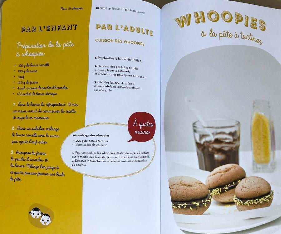 kideaz cuisine a 4 mains hachette recette whoopies