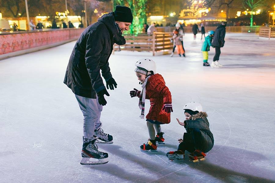 kideaz patinoire enfants parent famille