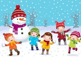 kideaz enfants bonhomme neige noel