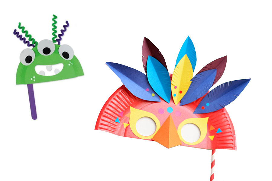 kideaz carnaval masque tuto