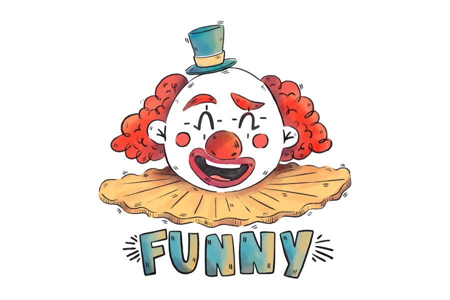 kideaz clown funny rire sourire drole