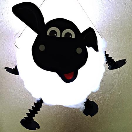 kideaz liichtmessdag lampion diy shaun mouton