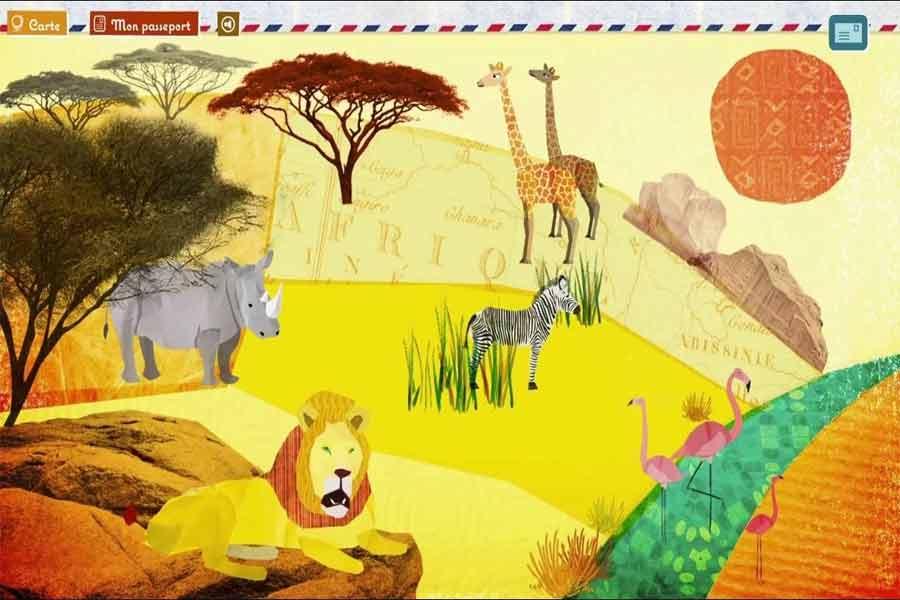 kideaz application app adeline la girafe extrait savane