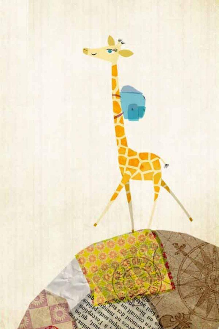 kideaz application app adeline la girafe image horizontale