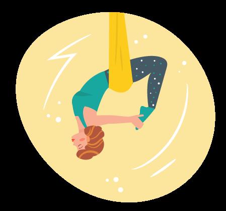 kideaz aeroyoga luxembourg illustration sport femme