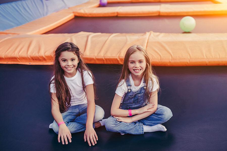 kideaz ozone trampoline parc filles enfants