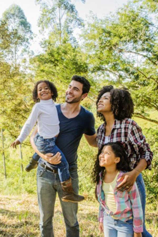 famille visite nature