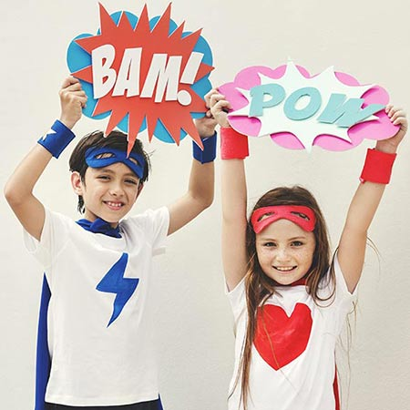 enfants superheros kideaz