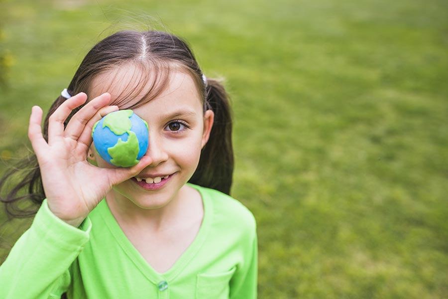 petite fille planete eco responsable kideaz