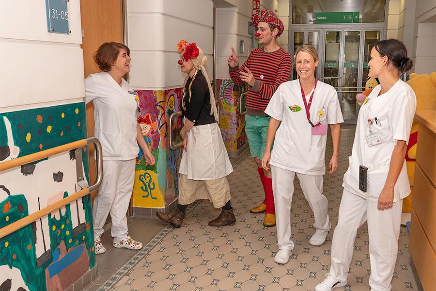 kideaz ile aux clowns hopital personnel luxembourg