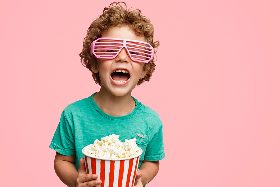 kideaz cinema enfant popcorn
