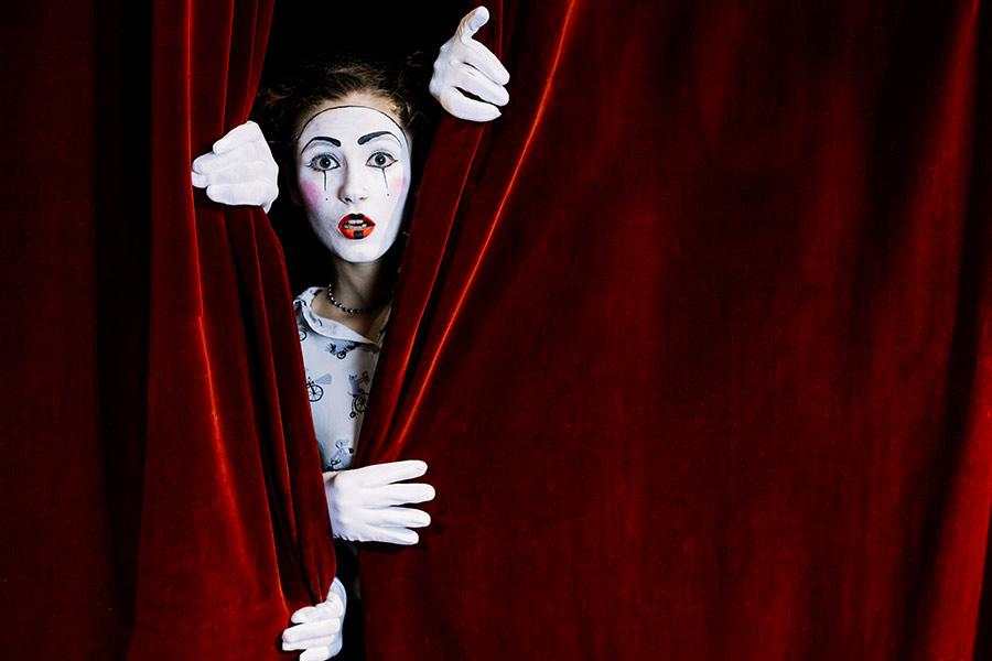 kideaz theatre mime rideau comedie spectacle