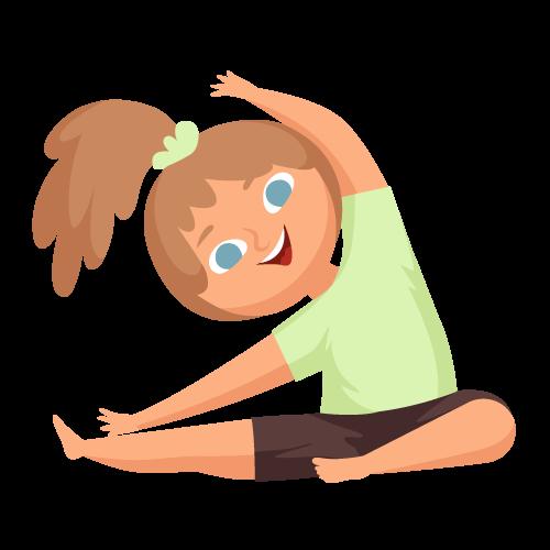 kideaz yoga posture enfant fille etirements zen relaxation