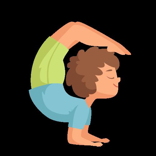 kideaz yoga posture enfant garcon zen relaxation
