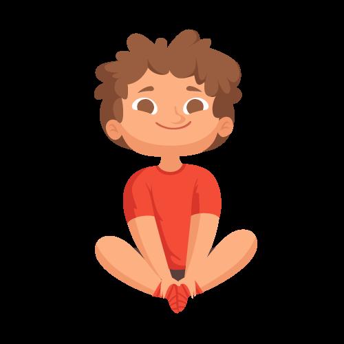 kideaz yoga posture papillon garcon etirements relaxation