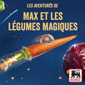 kideaz ecouter musique podcasts famille enfant aventures de max et legumes magiques delhaize