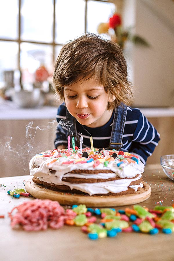 kideaz enfant anniversaire gateau maison confinement