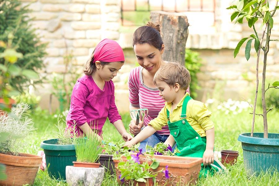 kideaz jardinage exterieur enfants parent semer