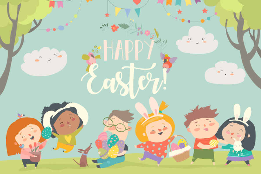 kideaz joyeuses paques happy easter illustration 2