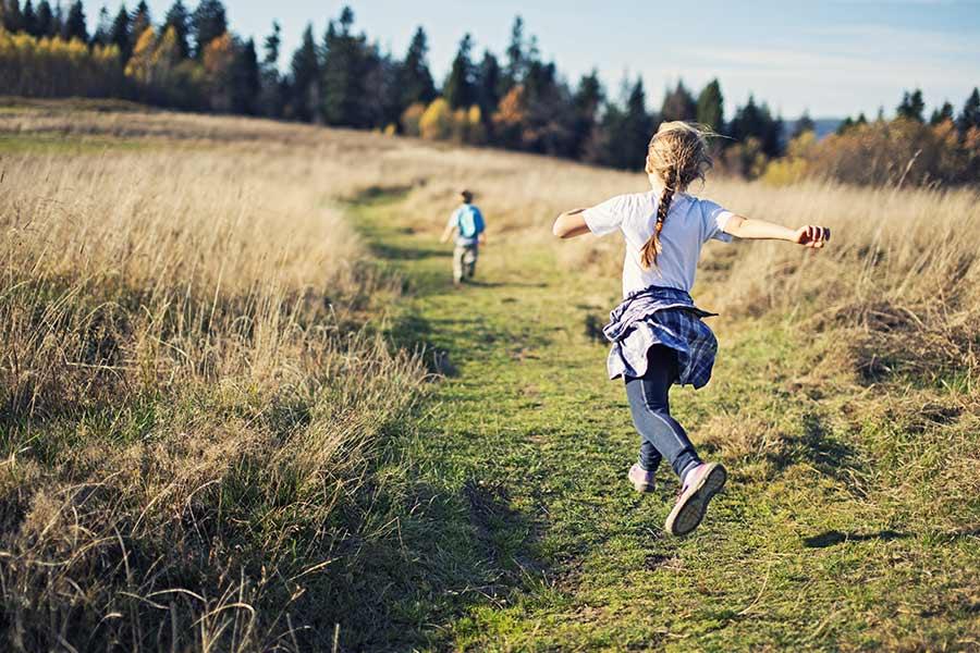 kideaz balade randonnee champ nature foret enfants parents