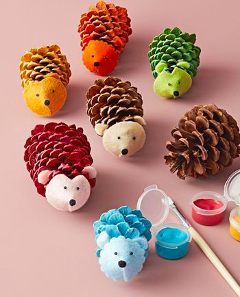 kideaz diy artistique foret balade enfant pommes de pin idee creative