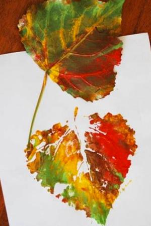 kideaz diy peinture feuille arbre nature