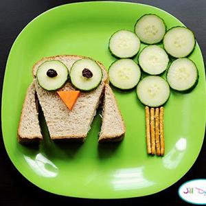 kideaz fun food toast chouette daskochrezept