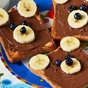 kideaz fun food toast nounours mesrecettesfacilles