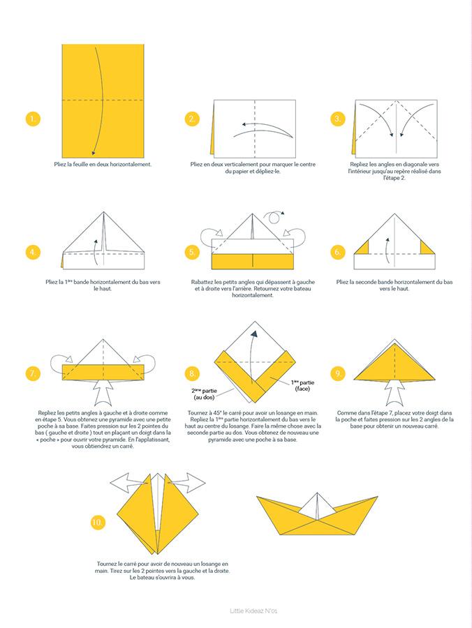 kideaz magazine little kideaz plateau jeu bateau origami instructions