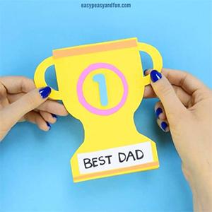 kideaz fête des père carte trophée