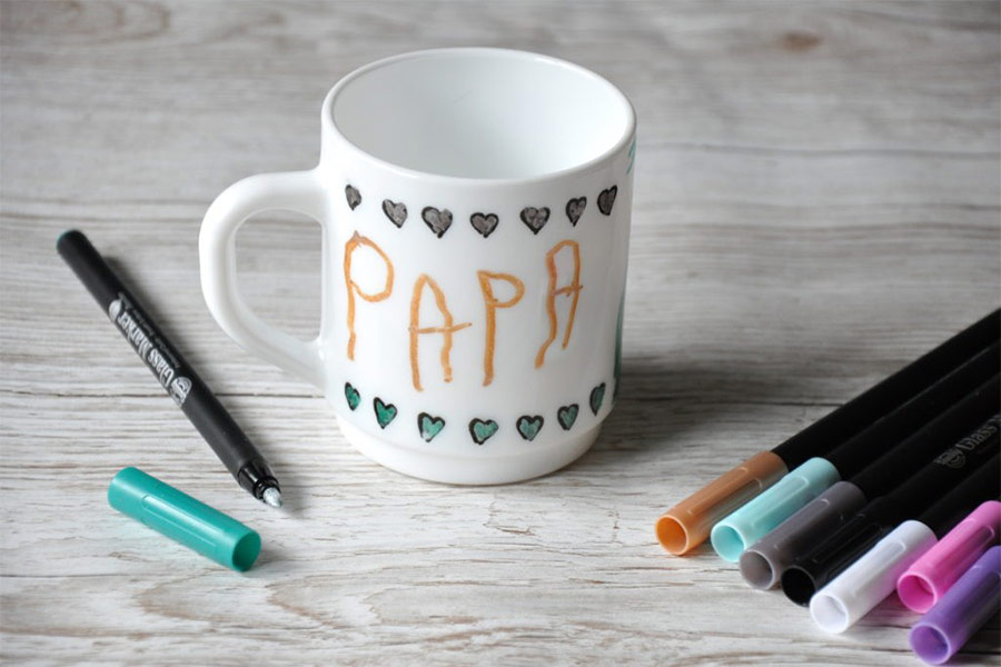 kideaz fête des pères mug customisé