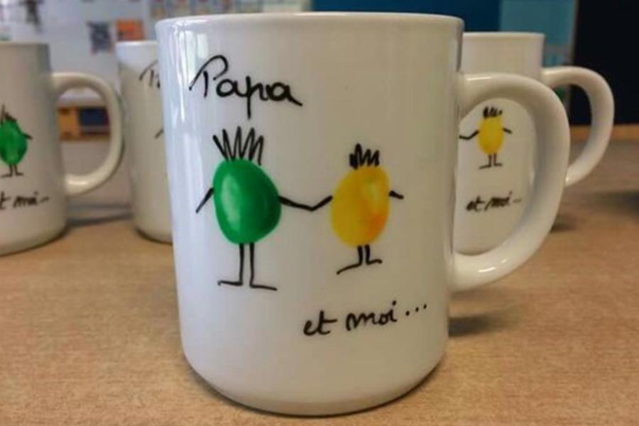kideaz fête des pères mug personnalisé