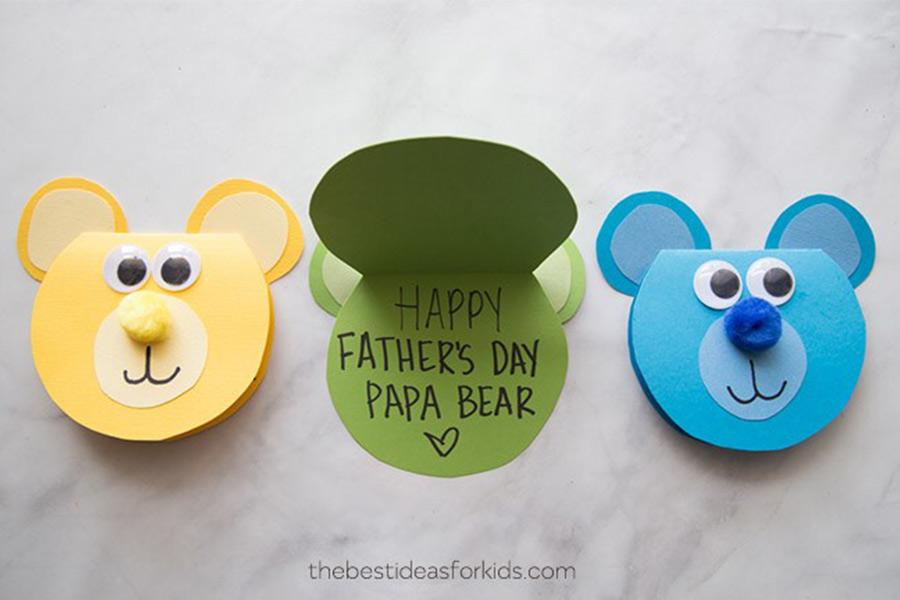kideaz fête des pères ours papa