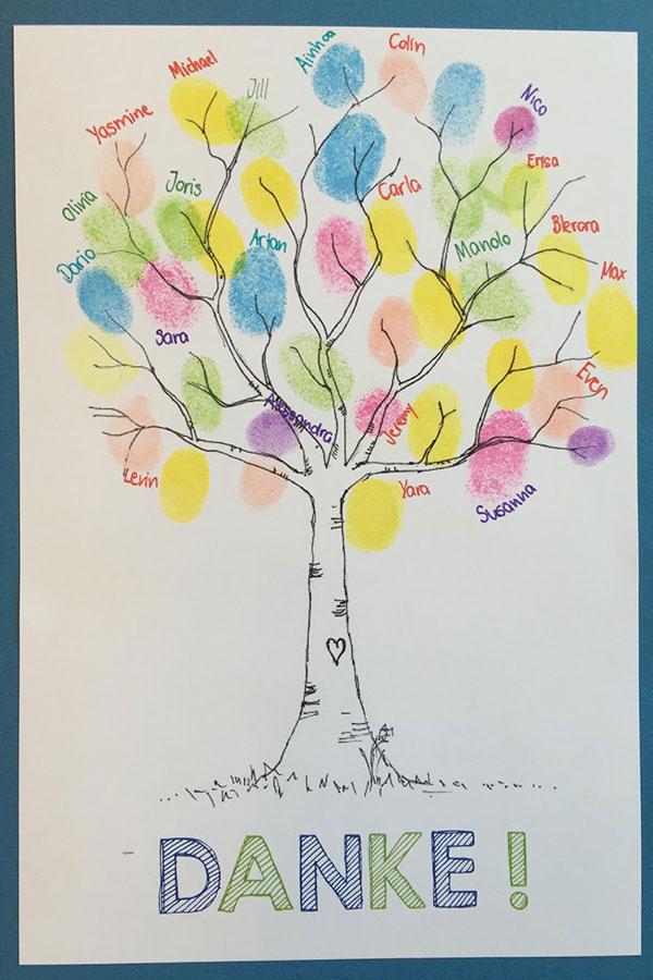 kideaz idées cadeaux maîtresse carte empreintes copy right klassenkunst