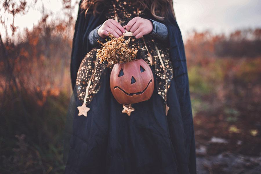kideaz halloween)fille citrouille