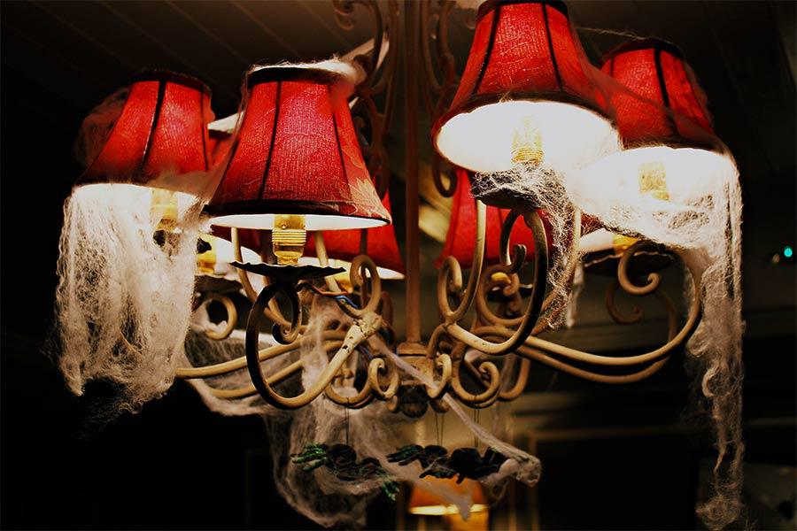 kideaz lampe toile araignée halloween