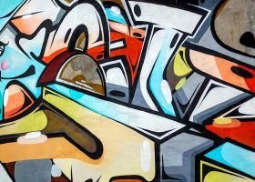kideaz tag graffitis mur couleurs