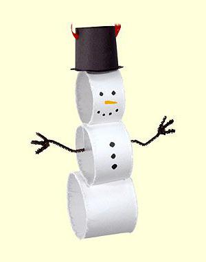 kideaz diy noel enfants bonhomme neige papier toilette