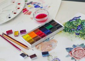 kideaz peinture art pinceau couleur feuilles