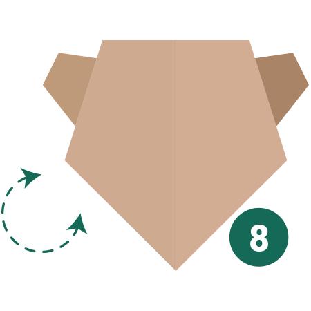 kideaz origami ours etape 8