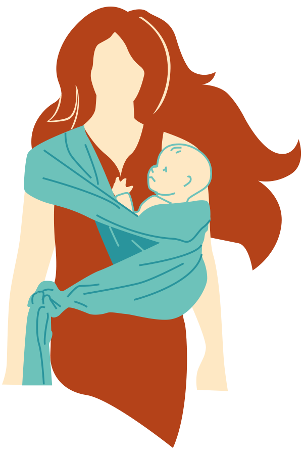 kideaz portage femme enfant illustration 5