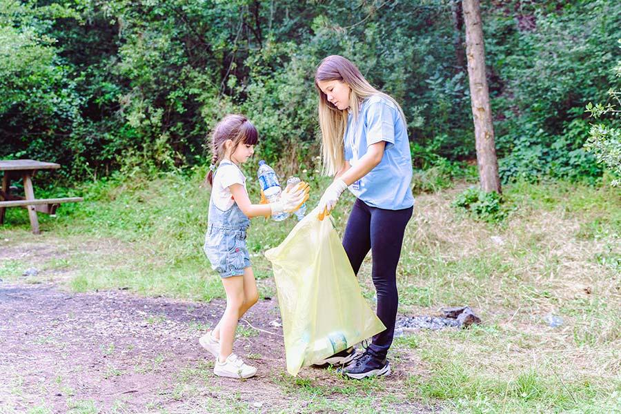 kideaz ramassage dechets recyclage adulte enfant famille