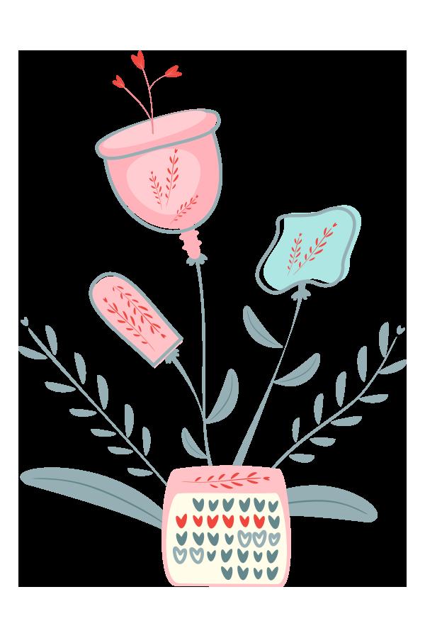 kideaz cycle menstruel regles enfants parents illustration
