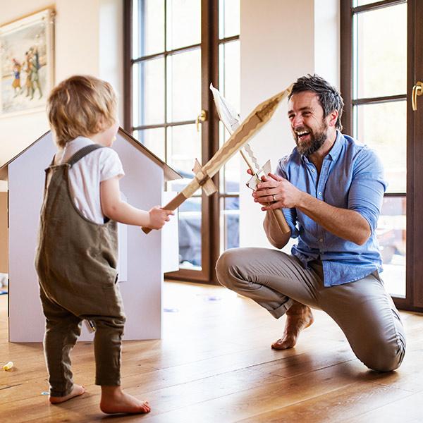 kideaz enfant parent chevaliers jeu imagination theme