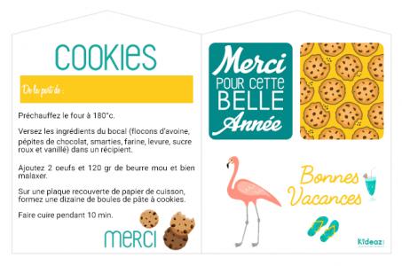 etiquette recette cookie